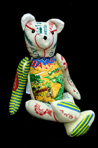 Kurda Basmati Teddy Bear, Mixed media, 35 x 18 x 18 cm, 2007